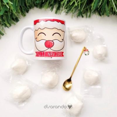 Taza Dulce + Cuchara Navidad