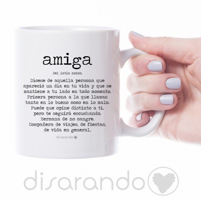 """Taza personalizable """"Definición Amiga"""""""