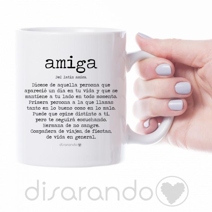 """Taza definición personalizable """"Amiga"""""""