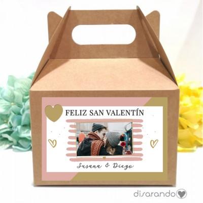 Caja personalizable 51 Con foto Love (Rectangular o Picnic)