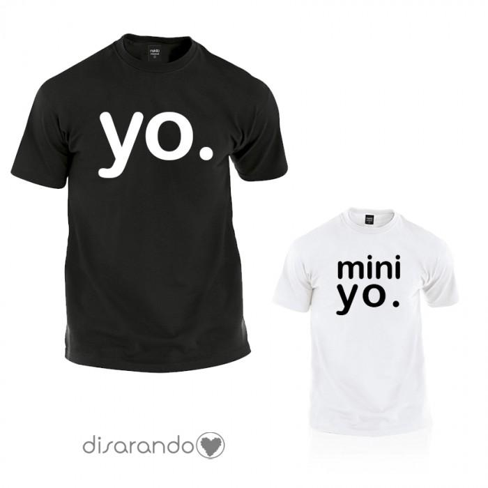 """Camiseta """"Yo. Mini yo."""" (varios colores, también inglés)"""