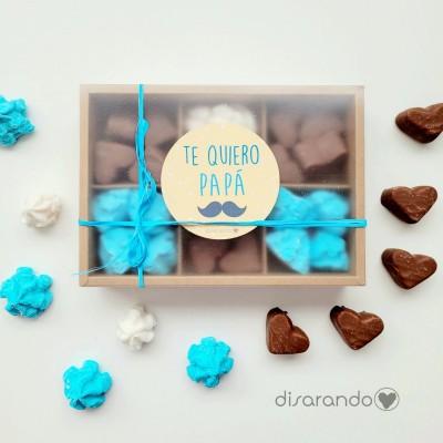 "Caja Dulces Papá ""Blue&Chocolate"""