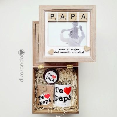 Caja Madera Papá