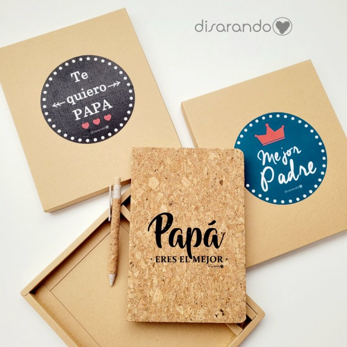 """Set Escritura Corcho Eco """"Papa eres el mejor"""""""