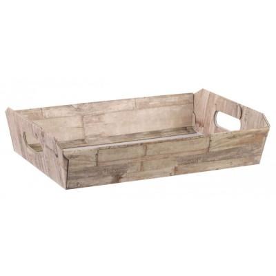 Bandeja craft imitación madera