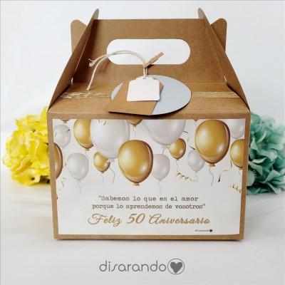 """Caja Picnic """"Bodas de oro, 50 Aniversario"""""""
