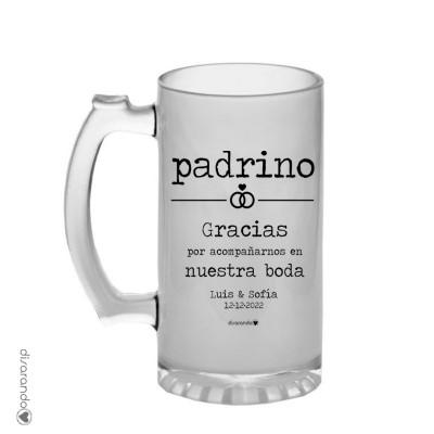 Jarra Cerveza Mensaje Personalizado Bodas