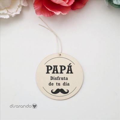 Etiqueta Madera Personalizable (Moustache)