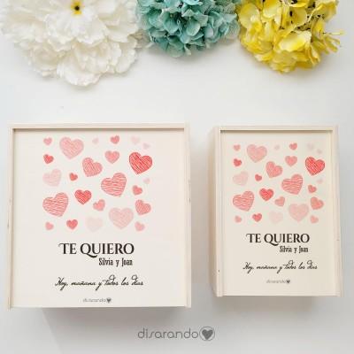 "Caja Madera Personalizable ""Love"" (dos tamaños)"