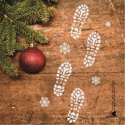 Plantilla Huella Navidad (1 ud)