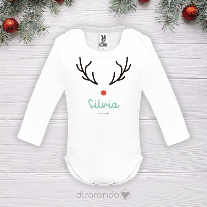 Body personalizado Navidad (Reno)