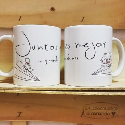 Taza Juntos es Mejor y casados mola más