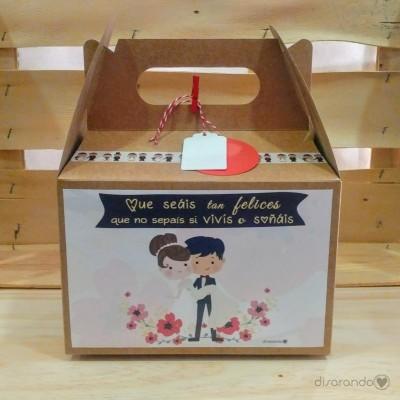 """Caja """"Que seáis tan felices que no sepáis si vivís o soñáis"""""""
