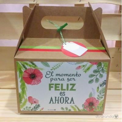 """Caja Picnic """"El momento para ser feliz es ahora"""""""