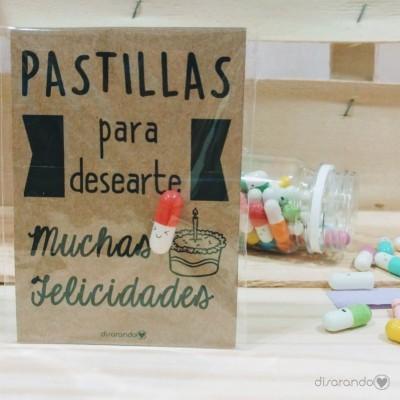 """Pastillas para """"desearte muchas felicidades"""""""