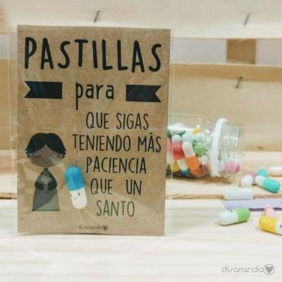 """Pastillas para """"que sigas teniendo más paciencia que un santo"""""""
