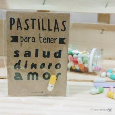 """Pastillas para """"tener salud, dinero, amor"""""""