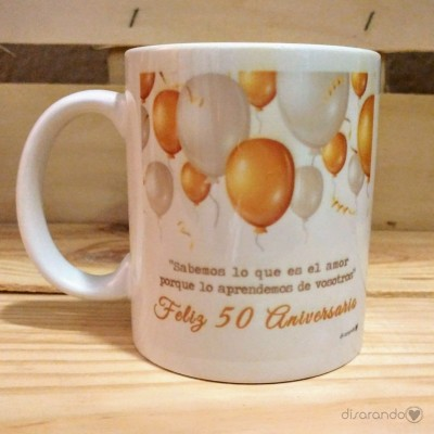 Taza Bodas de oro, 50 Aniversario