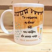 Taza Feliz Aniversario