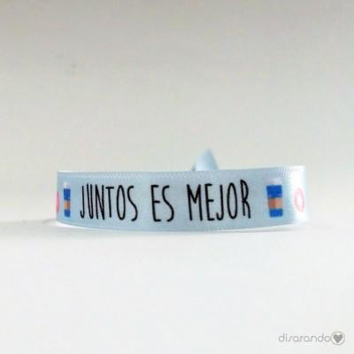 """Pulsera mensaje """"Juntos es mejor"""""""