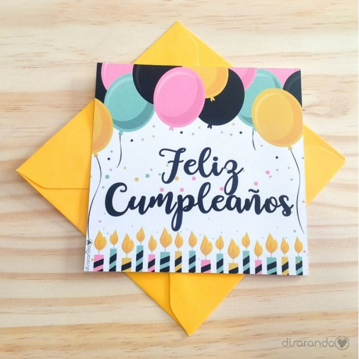 Tarjeta cumplea os tarjeta felicitaci n felicidades for Hacer tarjeta cumpleanos