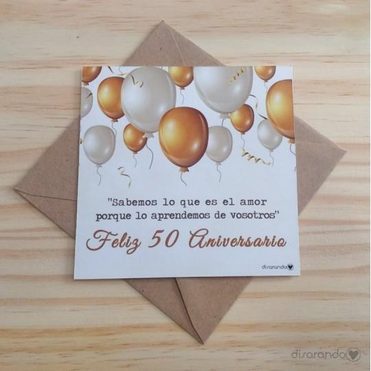 Bodas de oro 50 aniversario tarjetas aniversario tarjeta - Regalos 50 anos de casados ...