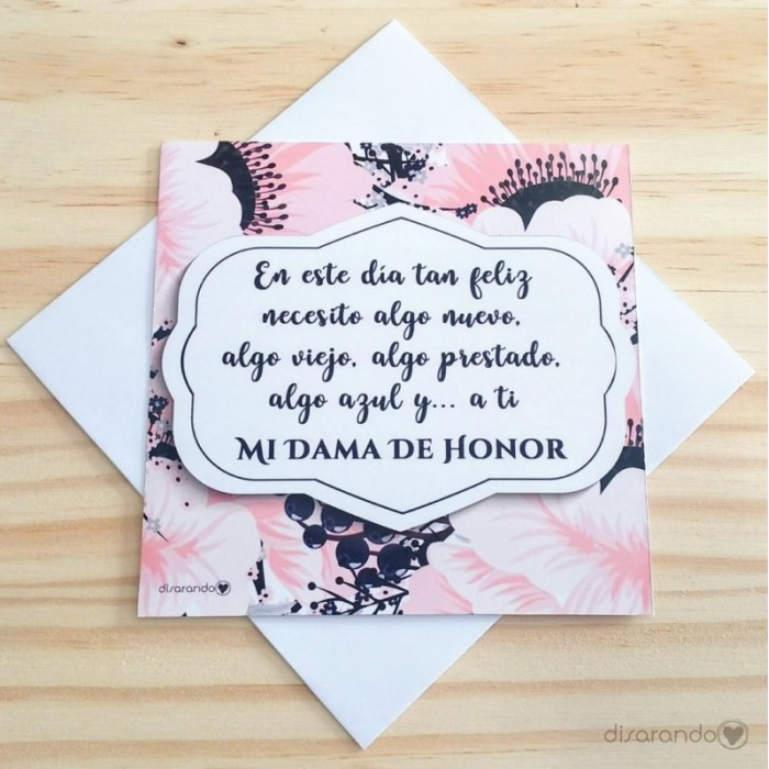 Tarjeta Dama de Honor