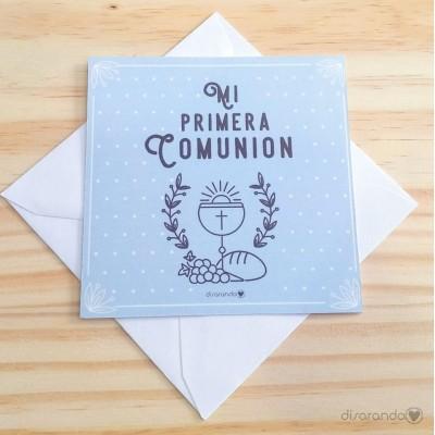 Tarjeta Comunión Niño