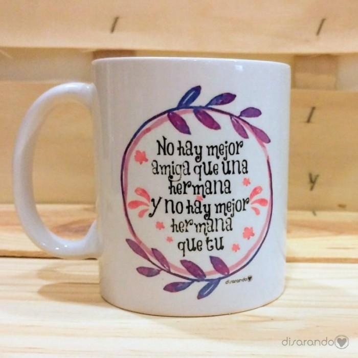 Taza con mensaje tazas personalizadas tazas originales for Regalos para hermanas