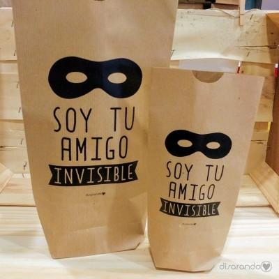 """Sobre regalo mensaje """"Soy tu amigo invisible"""""""
