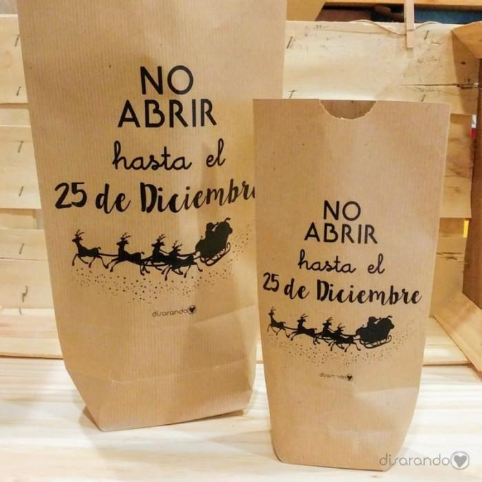 "Sobre regalo mensaje ""No abrir hasta el 25 de Diciembre"""