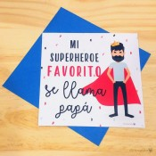 Tarjeta Superhéroe