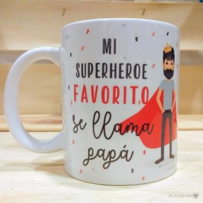 Taza padre superhéroe