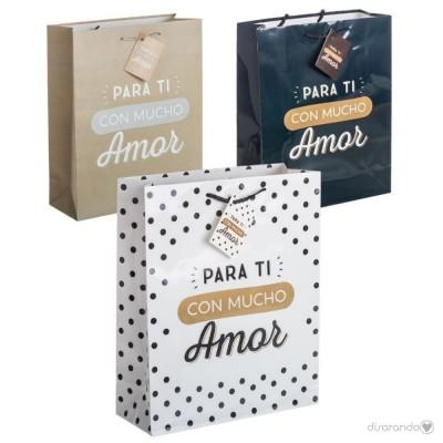 """Bolsa regalo """"Para ti con mucho amor"""""""