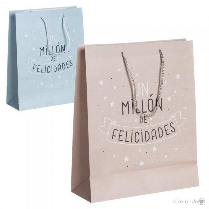 """Bolsa regalo """"Un millón de felicidades"""""""