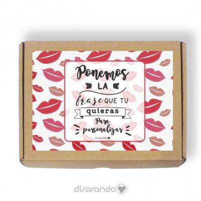 Caja personalizable Besos (Rectangular o Picnic)