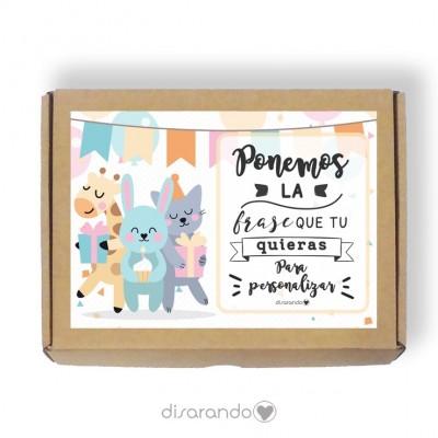 Caja personalizable 33 Cumpleaños (Rectangular o Picnic)