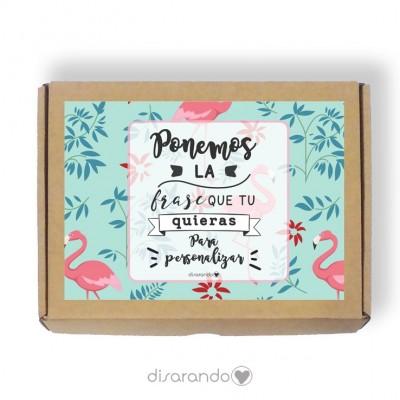 Caja personalizable Flamencos (3 tamaños)