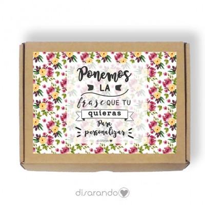 Caja personalizable Flores (3 tamaños)