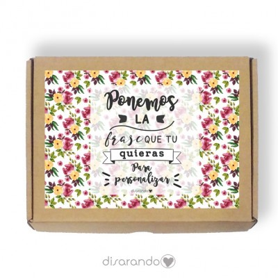 Caja personalizable 37 Flores (Rectangular o Picnic)