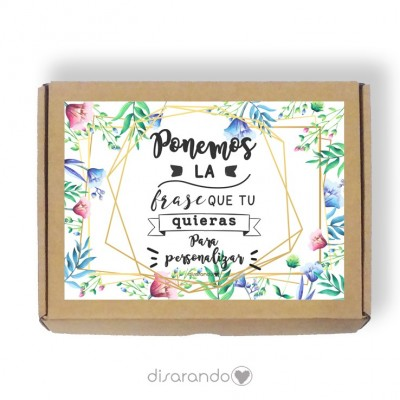 Caja personalizable 35 Flores (Rectangular o Picnic)