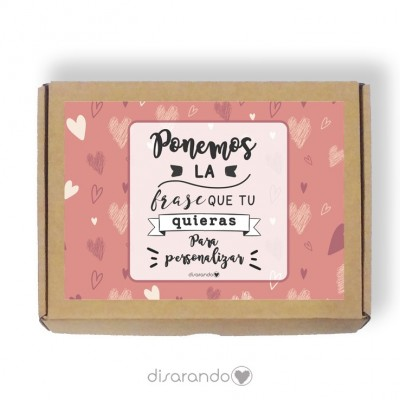 Caja personalizable 32 Love (Rectangular o Picnic)
