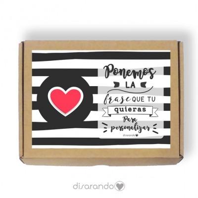 Caja personalizable Love (3 tamaños)