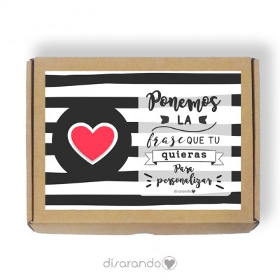 Caja personalizable Love (Rectangular o Picnic)