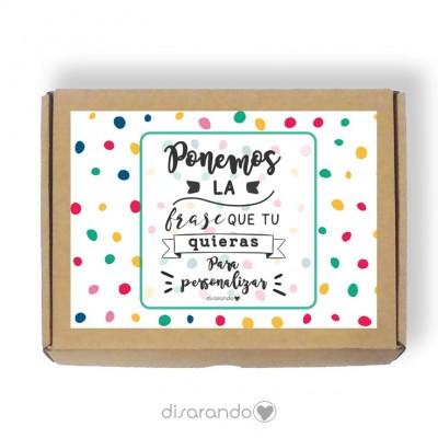 Caja personalizable 22 Lunares (Rectangular o Picnic)
