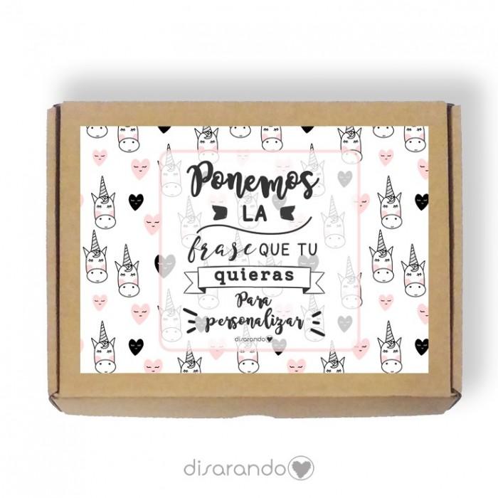 Caja personalizable Unicornios (3 tamaños)