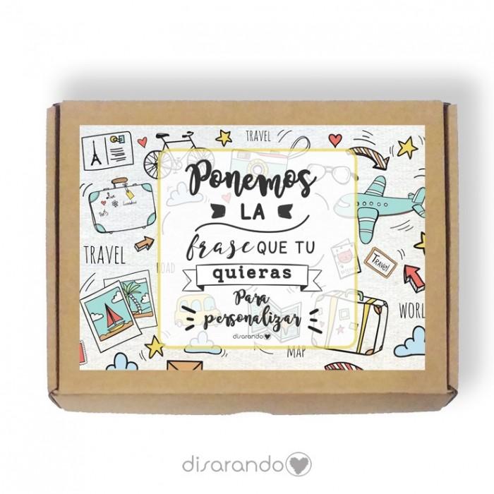 Caja personalizable Viajes (3 tamaños)