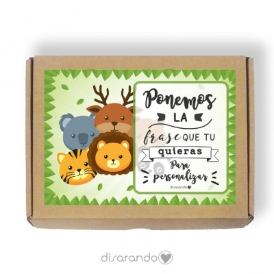 Caja personalizable 39 Zoo (Rectangular o Picnic)