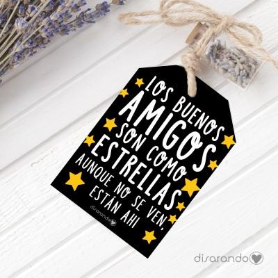 Etiqueta regalo Amigos Estrellas
