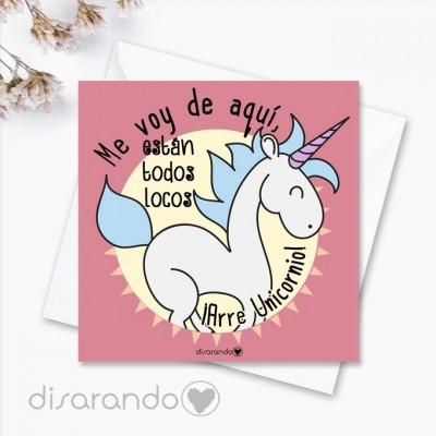 Tarjeta Arre Unicornio